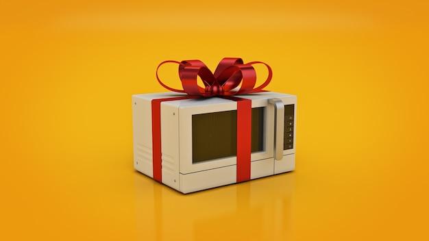 Concetto di stufa a microonde sconti rendering 3d