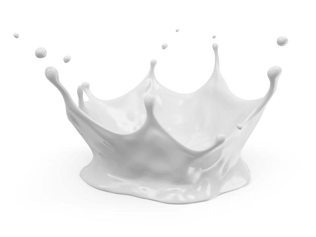 Milk crown splash isolato