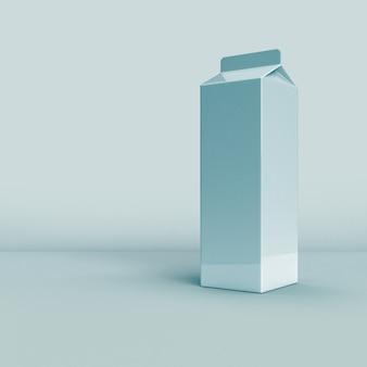 Imballaggio del latte su sfondo bianco