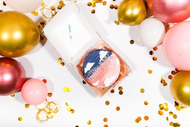Sfondo vacanza mini torta di compleanno