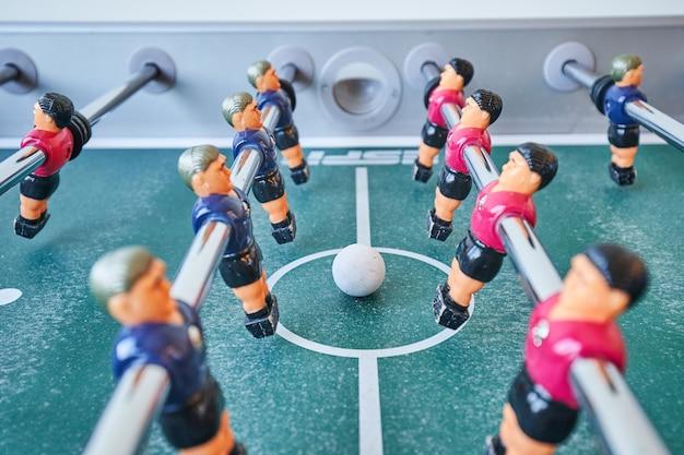 Mini calcio balilla calcio balilla con giocatori e pallone