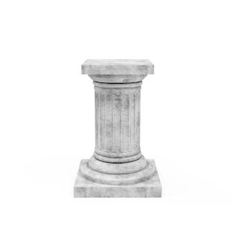 Base antica classica in miniatura della colonna isolata
