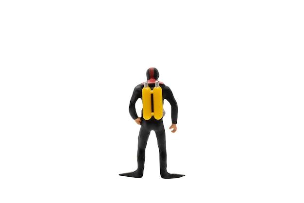 Persone in miniatura: subacqueo isolato