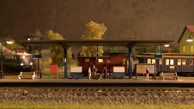 Replica in miniatura del modello della stazione ferroviaria.
