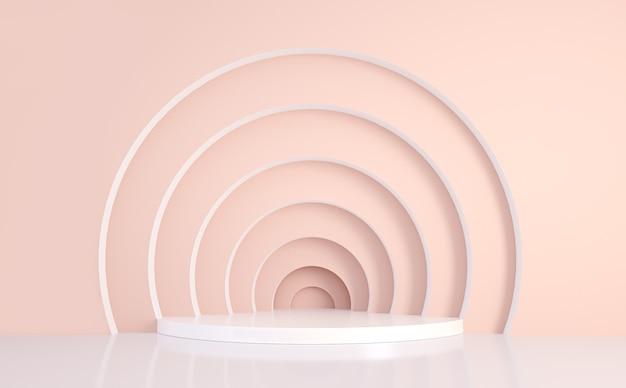 Podio geometrico astratto minimo piattaforme per il rendering 3d della presentazione del prodotto