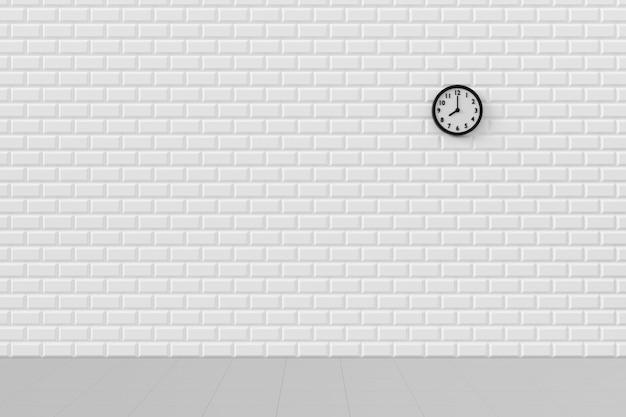 Sfondo minimo dell'orologio sul muro