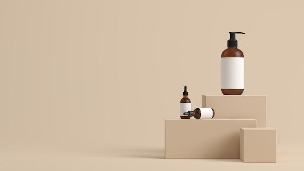 Sfondo minimal, mock up scena con podio per la visualizzazione del prodotto. rendering 3d