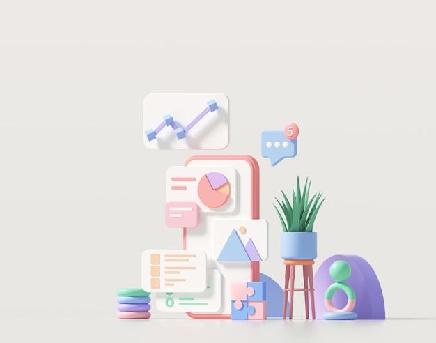Sviluppo minimo di app mobili e web design mobile