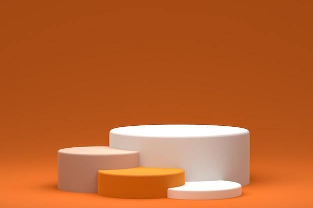 Display a podio o piedistallo minimo su sfondo ccc per la presentazione di prodotti cosmetici