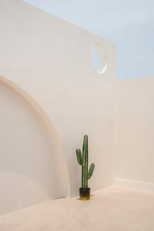 Architettura esterna minimale della parete occidentale