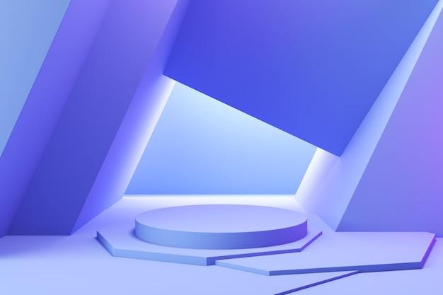 Espositore da podio bianco minimo per piedistallo di presentazione di prodotti cosmetici o sfondo della piattaforma