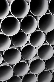 Composizione di tubi in pvc costruzione minimalista