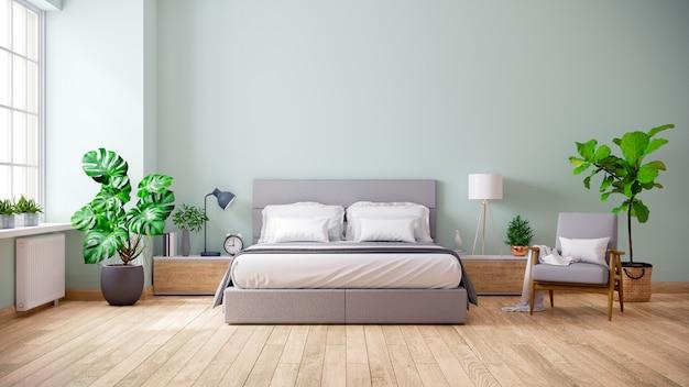 Interno minimalista della camera da letto