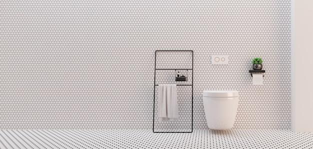 Servizi igienici minimalisti.