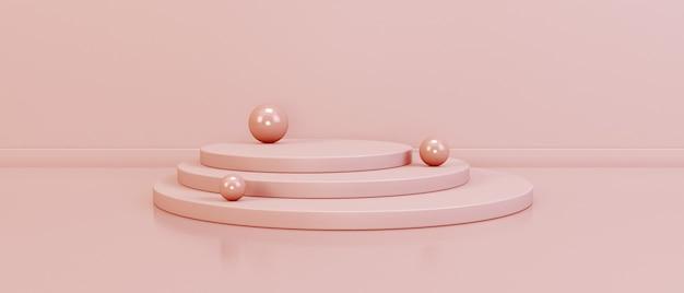 Podio minimalista con sfere