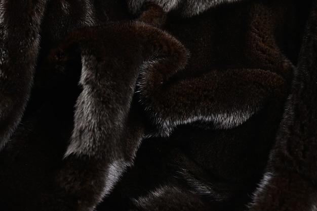 Trama di pelliccia di visone marrone.