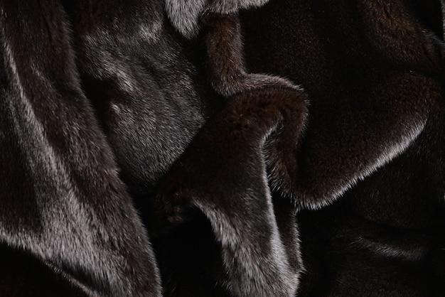Trama di pelliccia marrone visone.