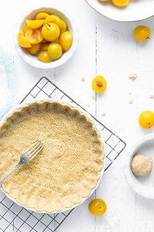 Prugne mirabelle in crosta di torta