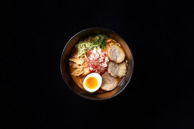 Alimento di ricetta del brodo di ramen del miso
