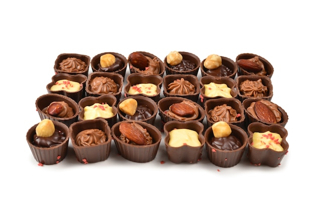 Mix di gustose caramelle al cioccolato collezione