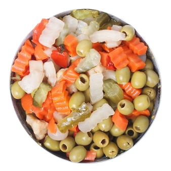 Cibo di verdure miste
