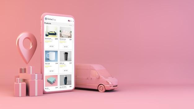 Concetto di consegna mobile