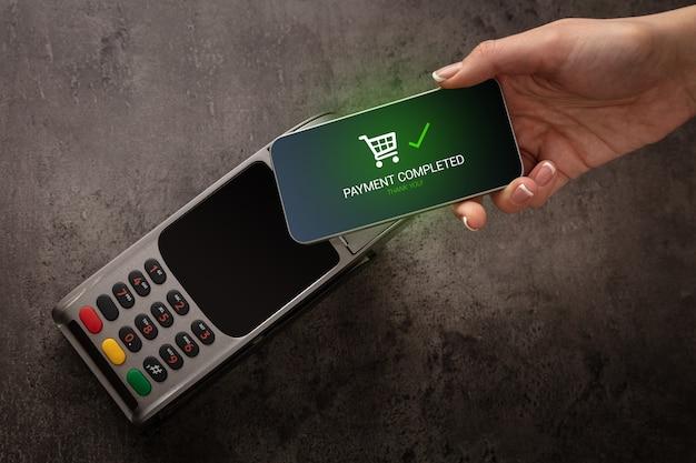 Pagamento mobile accettato sul terminale