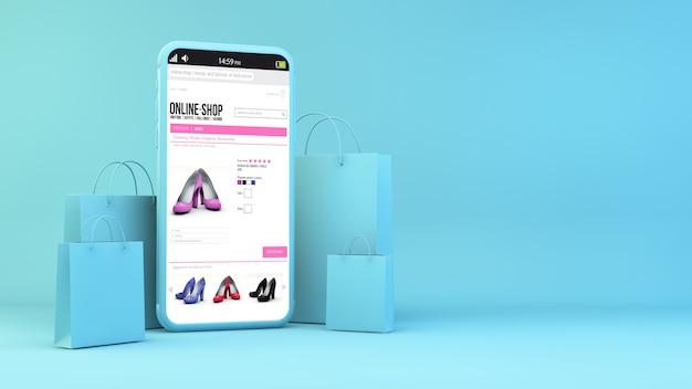 Concetto di shopping mobile