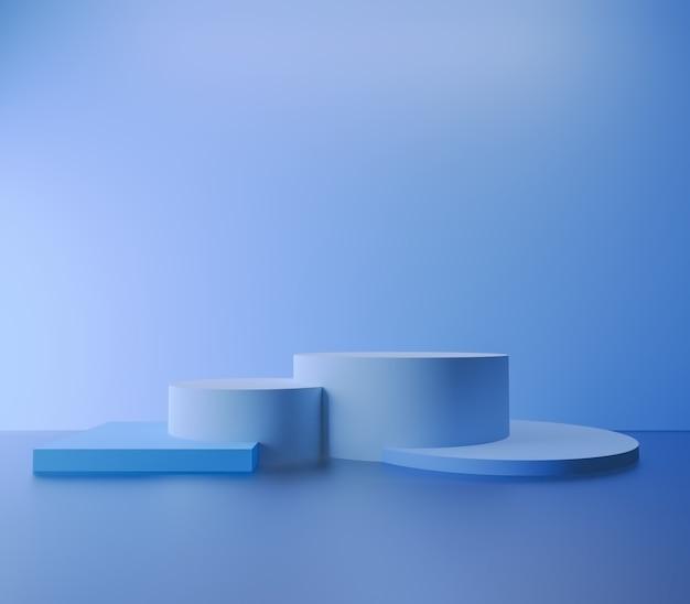 Derida sulla vetrina vuota moderna del fondo minimo astratto del podio per la presentazione del prodotto