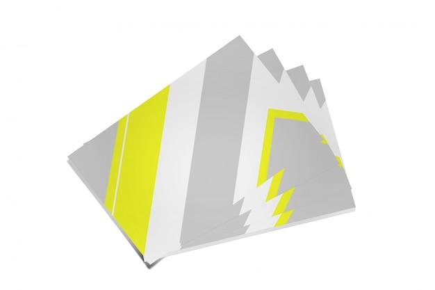 Manichino di businesscard su un bianco - rendering 3d