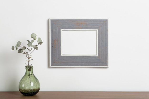 Mock up cornice vuota sfondo cornice decorativa vuota per una foto o un dipinto