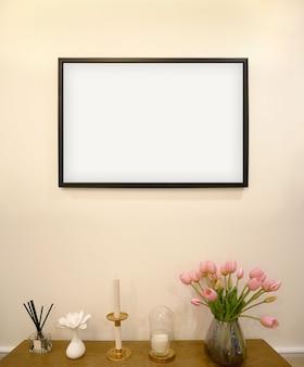 Mock up frame in soggiorno interior design backgroundxa
