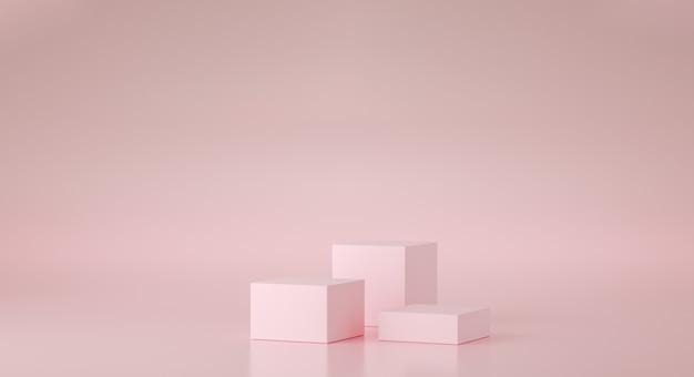 Mock up podio di forma geometrica per la progettazione del prodotto, rendering 3d