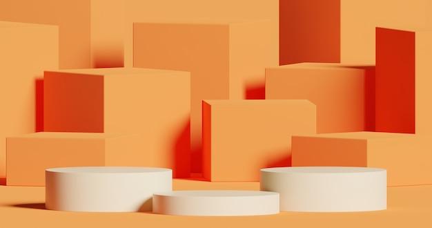 Mock up podio per il concetto minimo astratto di presentazione del prodotto