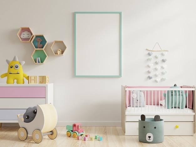 Mock up frame poster nella stanza dei bambini