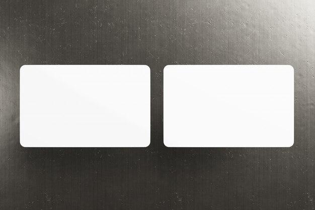 Derida su di una carta d'angolo arrotondata - rappresentazione 3d