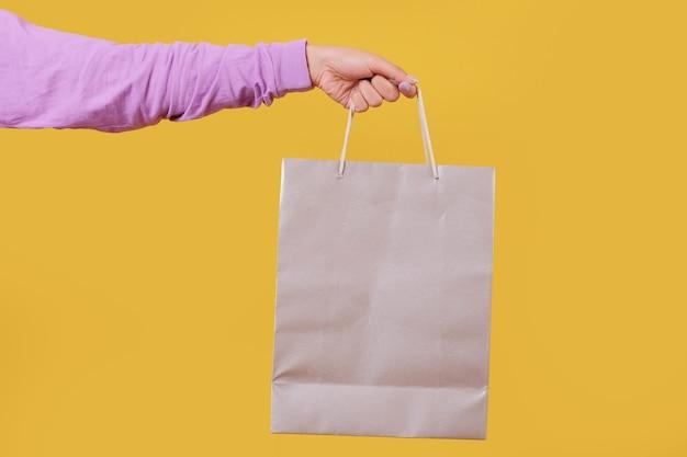 Mock up shopping bag, giallo