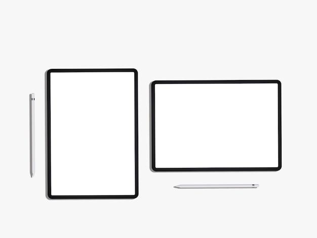 Mockup di ipad con schermo vuoto