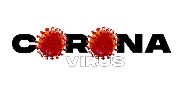 Modello di covid-19 in parola corona su sfondo bianco, concetto di diffusione della pandemia, virus 2020, medicina, assistenza sanitaria. epidemia mondiale con crescita, quarantena e isolamento, protezione. copyspace.