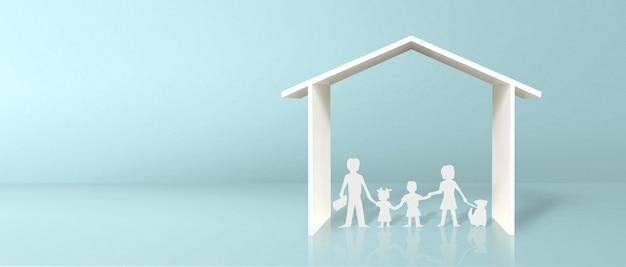 Casa modello. affitto immobiliare, acquisto e concetto di vendita. servizi di agenti immobiliari, riparazione e manutenzione di edifici