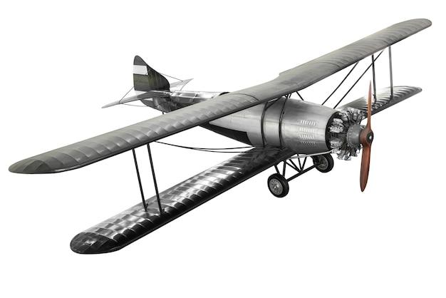 Modello di aeroplano da combattimento antico in acciaio