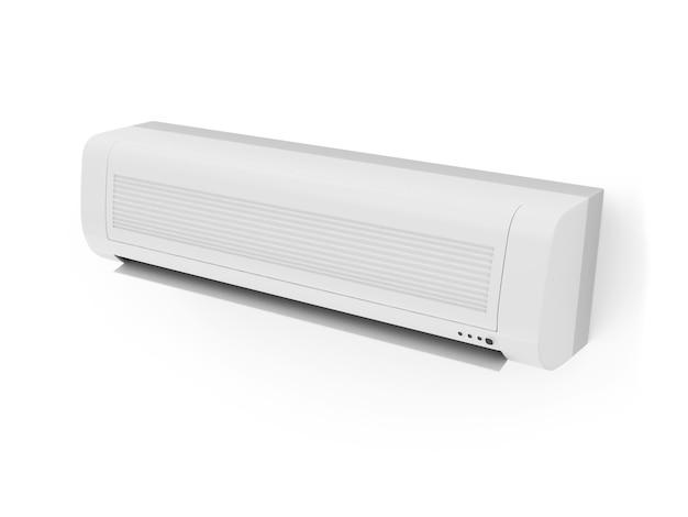 Condizionatore d'aria moderno isolato su priorità bassa bianca