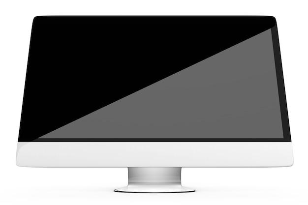 Un moderno computer, tv o monitor tutto in uno. illustrazione 3d.