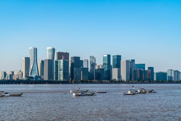 Paesaggio architettonico moderno di hangzhou qianjiang new town cbd