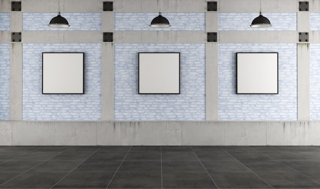 Galleria d'arte moderna in un loft