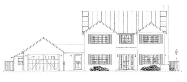 Bella casa moderna. schizzo di design del cottage. illustrazione 3d.