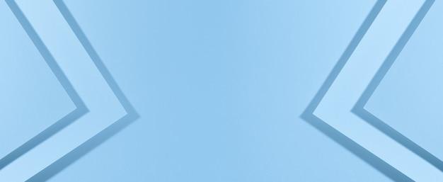 Sfondo blu moderno con fogli di carta con ombra. modello per affari, banner, copia spazio