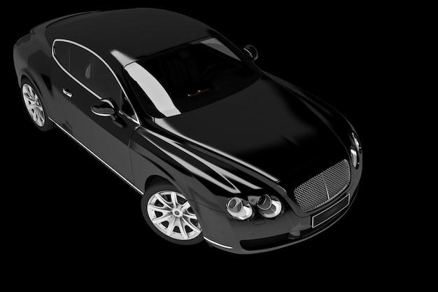 Auto moderna su nero - 3d render