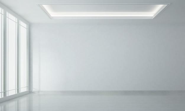 Design interno moderno accogliente soggiorno bianco e priorità bassa bianca vuota di struttura della parete
