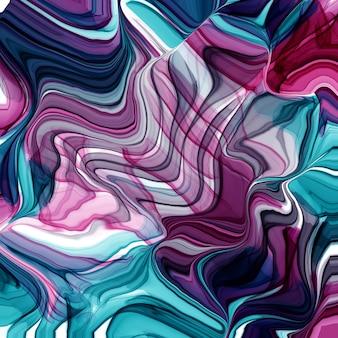 Illustrazione di stile creativo moderno con sfondo di inchiostro di alcool. disegno grafico. modello artistico moderno. trama colorata. bellissimo dipinto. arte contemporanea. vernice liquida. illustrazione di inchiostro. Foto Premium